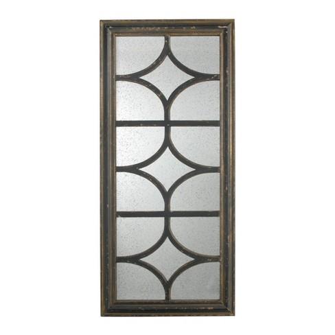 Glister Rectangular Mirror Black - A&B Home - image 1 of 1