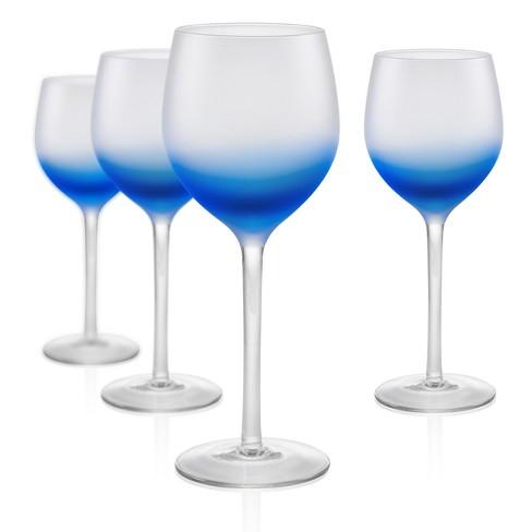 Artland 8oz 4pk Frost Shadow Goblet Glasses - image 1 of 1