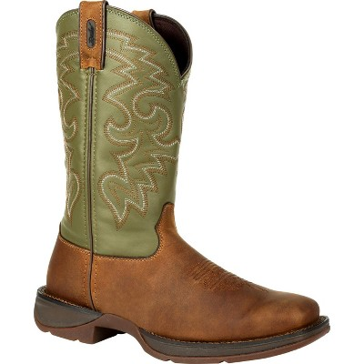 Men's Rebel by Durango Coffee & Cactus Pull-On Western Boot