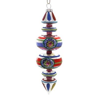 "Shiny Brite 7.0"" Cc Drop Sphere With Reflector Ornament  -  Tree Ornaments"