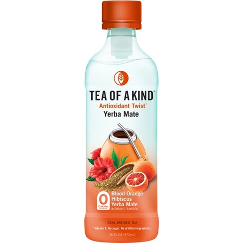 Tea of a Kind, Blood Orange Hibiscus Yerba Mate - 16 fl oz Bottle - image 1 of 1