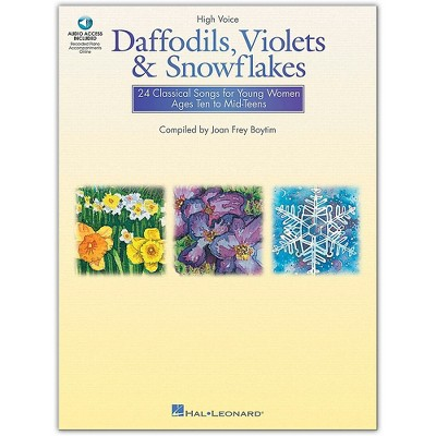 Hal Leonard Daffodils, Violets And Snowflakes for High Voice (Book/Online Audio)
