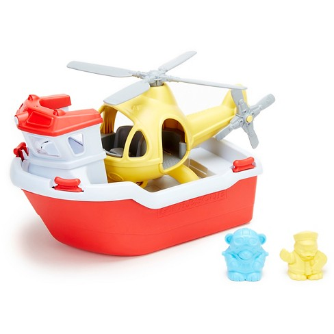 Green Toys Rescue Boat w/Helicopter - image 1 of 2