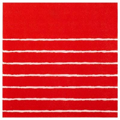 30ct Striped Lunch Napkin Red - Spritz™