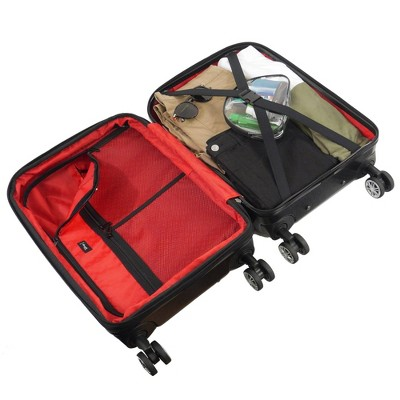 """FUL 21"""" Disney Mickey Mouse Hardside Carry On Spinner Suitcase - Black"""