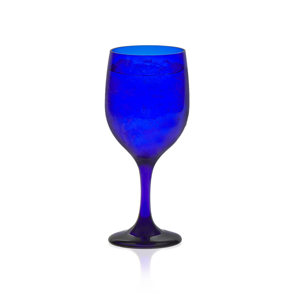 Libbey Glass Goblets 11.5oz Blue - Set of 12