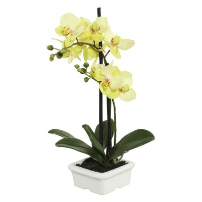 """Artificial Potted Orchid (15.5"""")- Vickerman"""