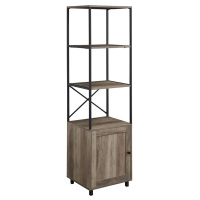 """64"""" Paterson Industrial Farmhouse Storage Shelf with Cabinet - Saracina Home"""