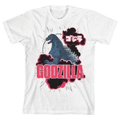 Classic Godzilla Youth White Graphic Tee