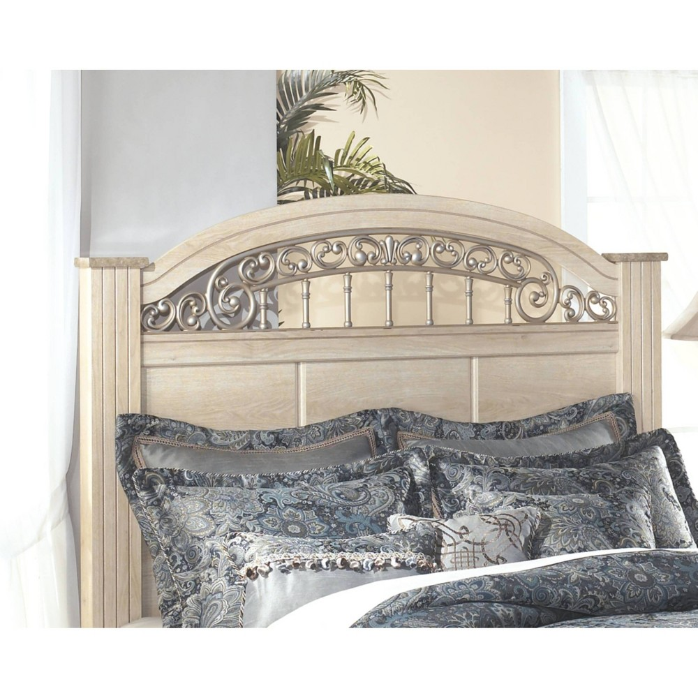 Image of Adult Headboard Eggshell King - Signature Design by Ashley, Beige