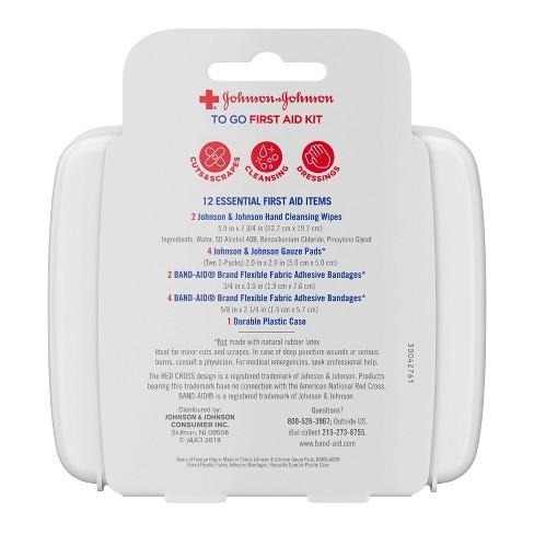ac90d9d418ac Johnson & Johnson First Aid To Go! Portable Mini Travel Kit - 12pc