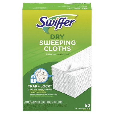 Swiffer Sweeper Dry Sweeping Pad Multi Surface Refills for Dusters Floor Mop - 2pk/52ct