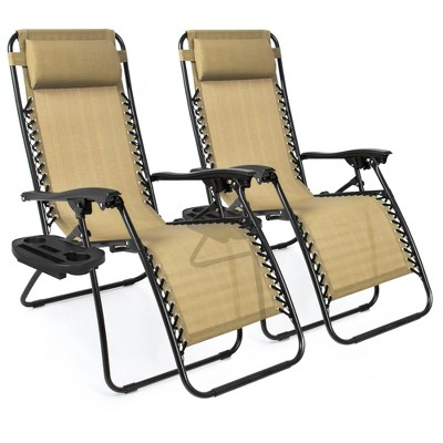 Best Choice Products Set of 2 Adjustable Zero Gravity Lounge Chair Recliners for Patio	Pool w/ Cup Holders