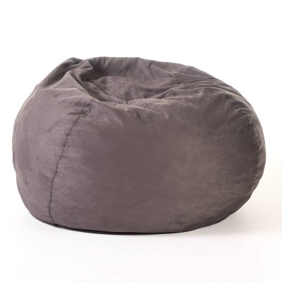 Christopher Knight Home Madison Faux Suede 5-Foot Beanbag - Charcoal