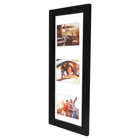 Float Frame Black 10x26 Glass for 3 - 5x7 Photos - Room Essentials ...