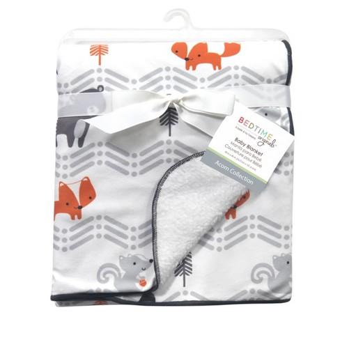 Bedtime Originals Soft Sherpa Baby Blanket - Acorn - image 1 of 4