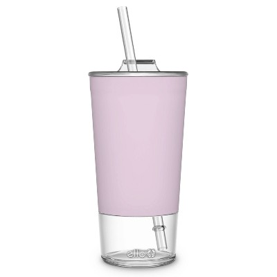 Ello Tidal 20oz Glass Tumbler with Lid - Pink