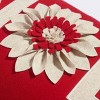 "14""x24"" Noel Poinsettia Throw Pillow Red/White - Sure Fit - image 3 of 3"