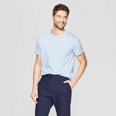 Men's Standard Fit Short Sleeve Lyndale Crew T-Shirt - Goodfellow & CoÂ? Breaktime Blue XL