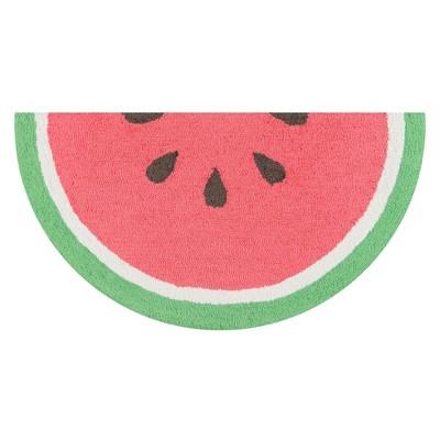3' Fruit Hooked Half-Circle Accent Rug Red - Novogratz By Momeni