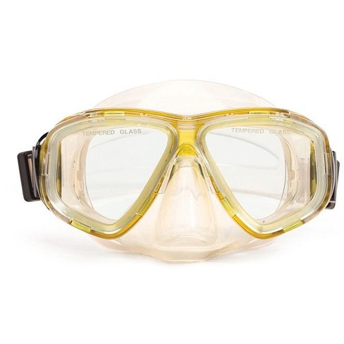 "Pool Master  Goggle Mask Swimming Pool Accessory for Teens 5.5"" - Yellow/Clear - image 1 of 1"