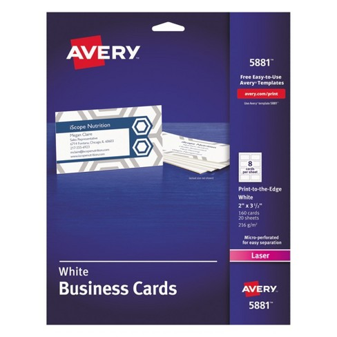 avery 2 x 3 1 2 laser print to the edge two sided business cards