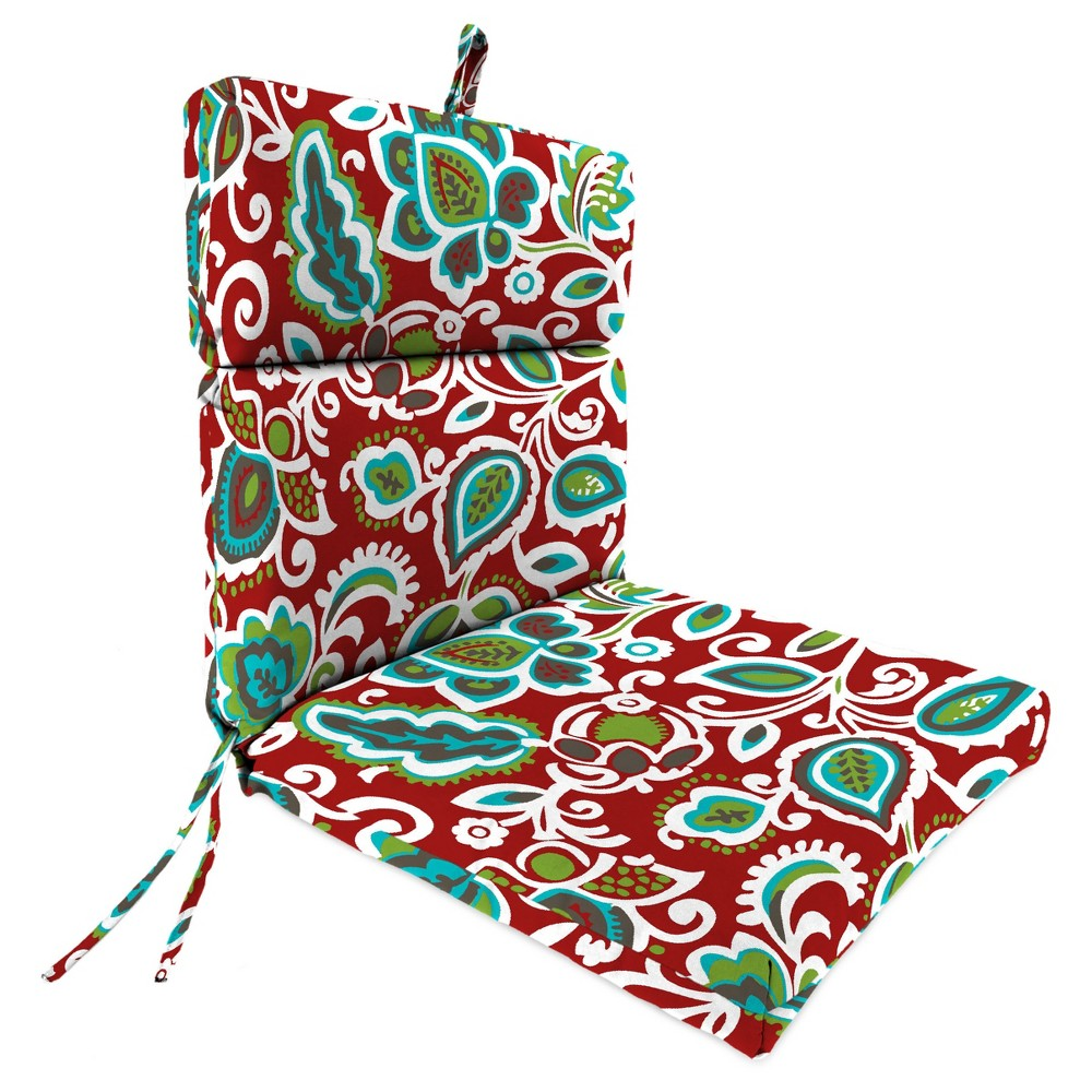 Outdoor French Edge Dining Chair - Berry Maroon - Jordan Manufacturing