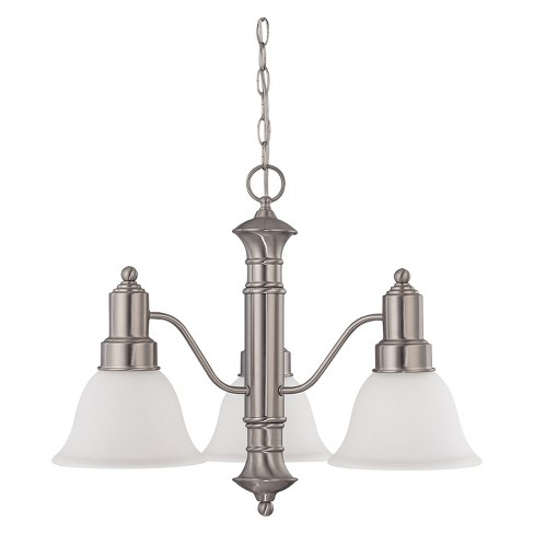 Aurora Lighting 3 Light Chandelier Brushed Nickel - image 1 of 1