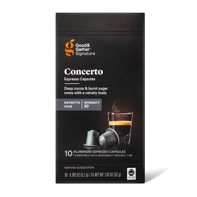 Signature Ristretto Concerto Pods Espresso Roast Coffee - 10ct  - Good & Gather™