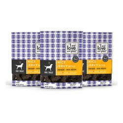I and Love and You Nice Jerky Chicken + Duck Natural Dog Treats - 3pk