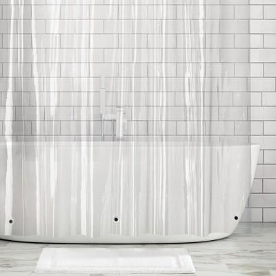 mDesign Premium Waterproof Vinyl Shower Curtain Liner, 10 Guage