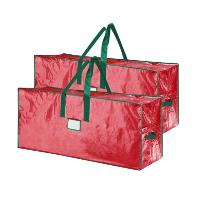 Elf Stor Set of 2 7.5' Christmas Tree Bags Large Red