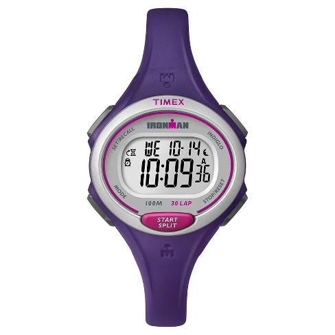 4d9c8086a Women's Timex Ironman® Essential 30 Lap Digital Watch - Purple TW5K90100JT  : Target