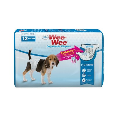 Four Paws Wee-Wee Disposable Dog Diapers - 12ct - M