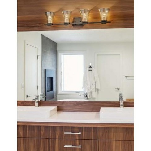 "Justice Design Group FSN-8494-20-MROR Malleo 4 Light 33"" Wide Bathroom Vanity Light - - image 1 of 1"