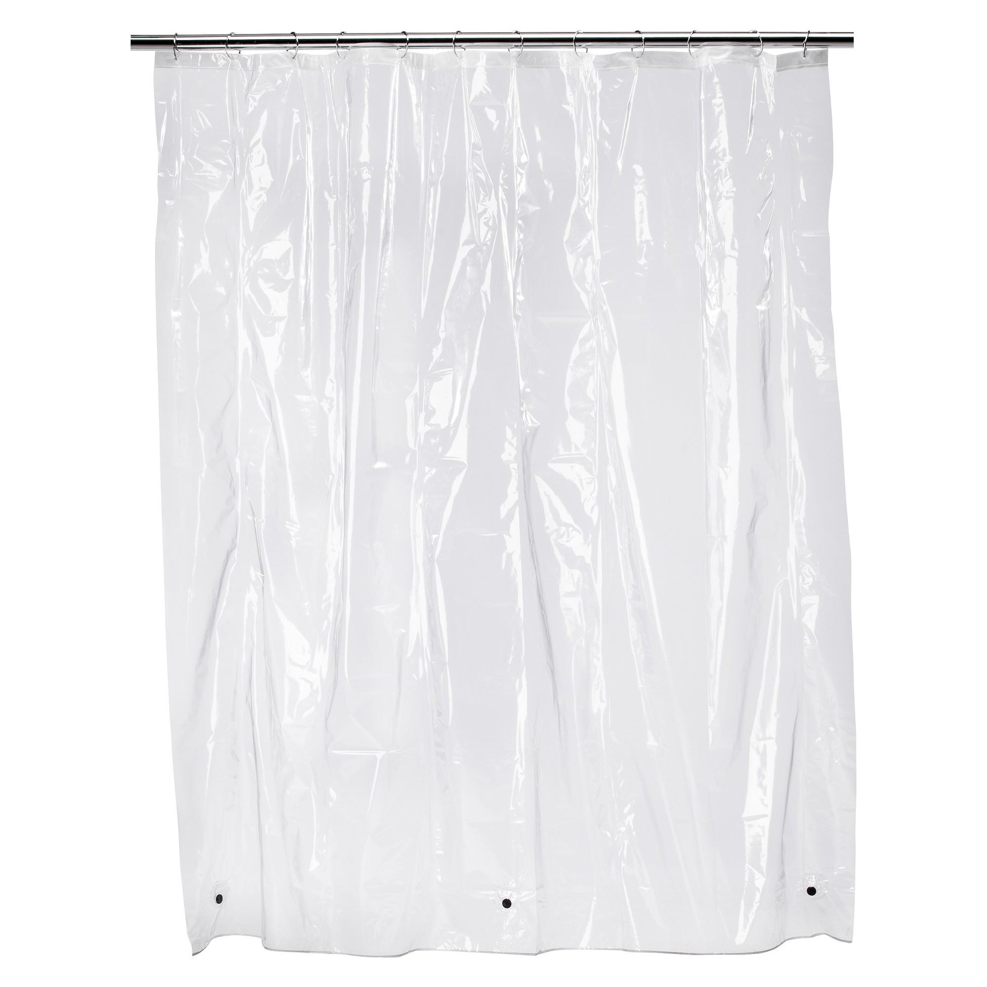 Solid Super Soft PEVA Shower Liner Clear - Room Essentials