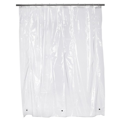 Solid Super Soft PEVA Shower Liner Clear - Room Essentials™ - image 1 of 1