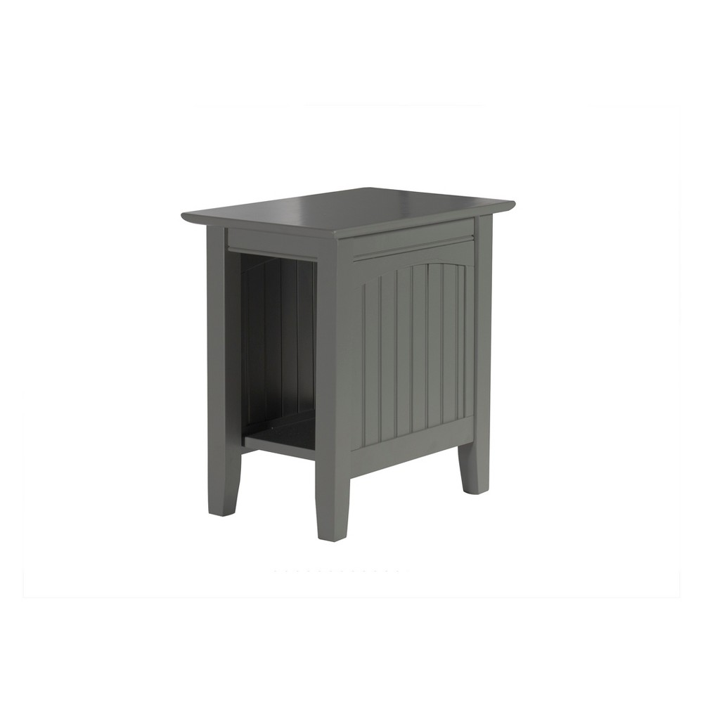 Image of Atlantic Furniture Nantucket Chair Side Table Gray
