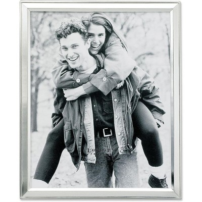 """Lawrence Frames 8"""" x 10"""" Metal Silver Picture Frame 750180"""