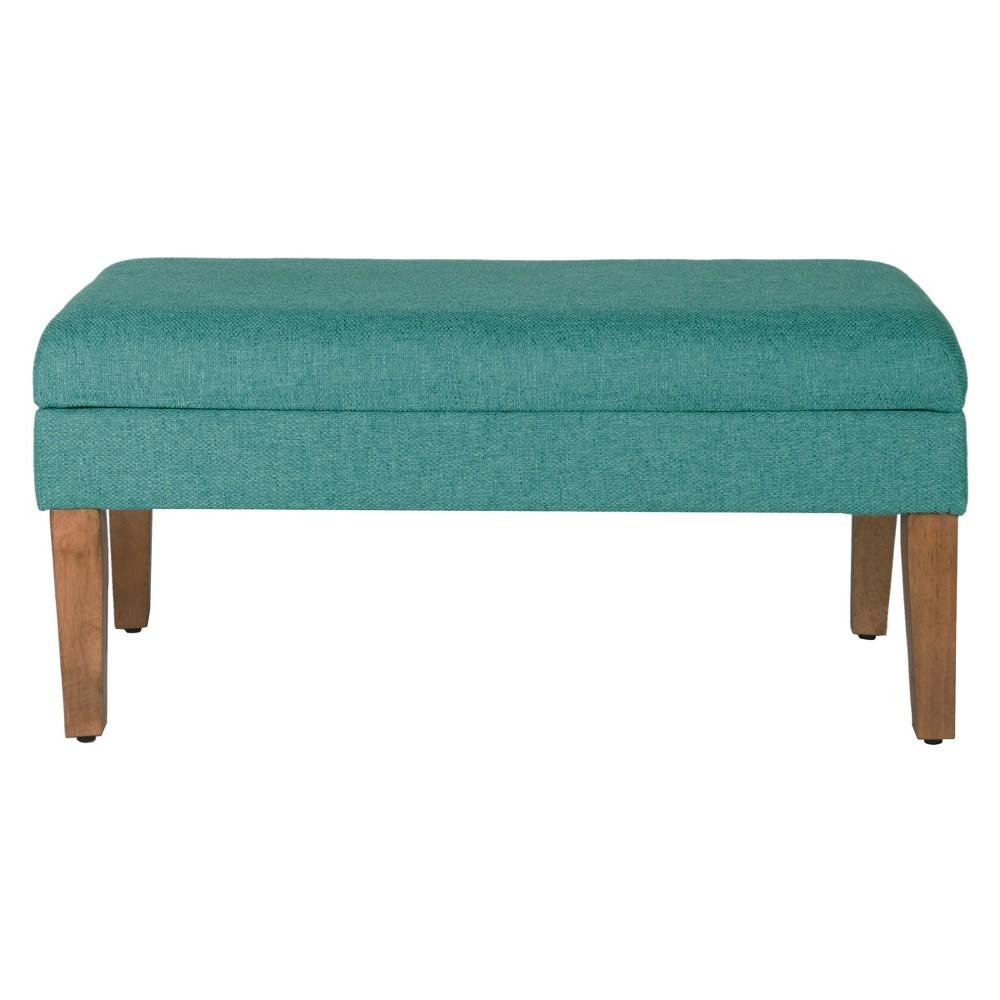 Best Sale Storage Bench Teal Blue HomePop