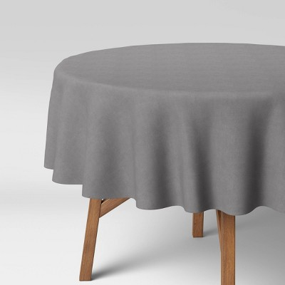 """70"""" Solid Tablecloth Gray - Threshold™"""
