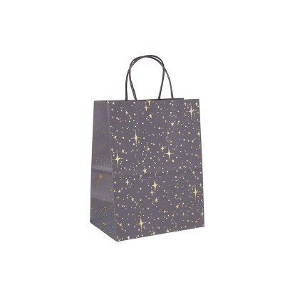 Small Hotstamp Dots And Star Gift Bag Gray - Spritz™