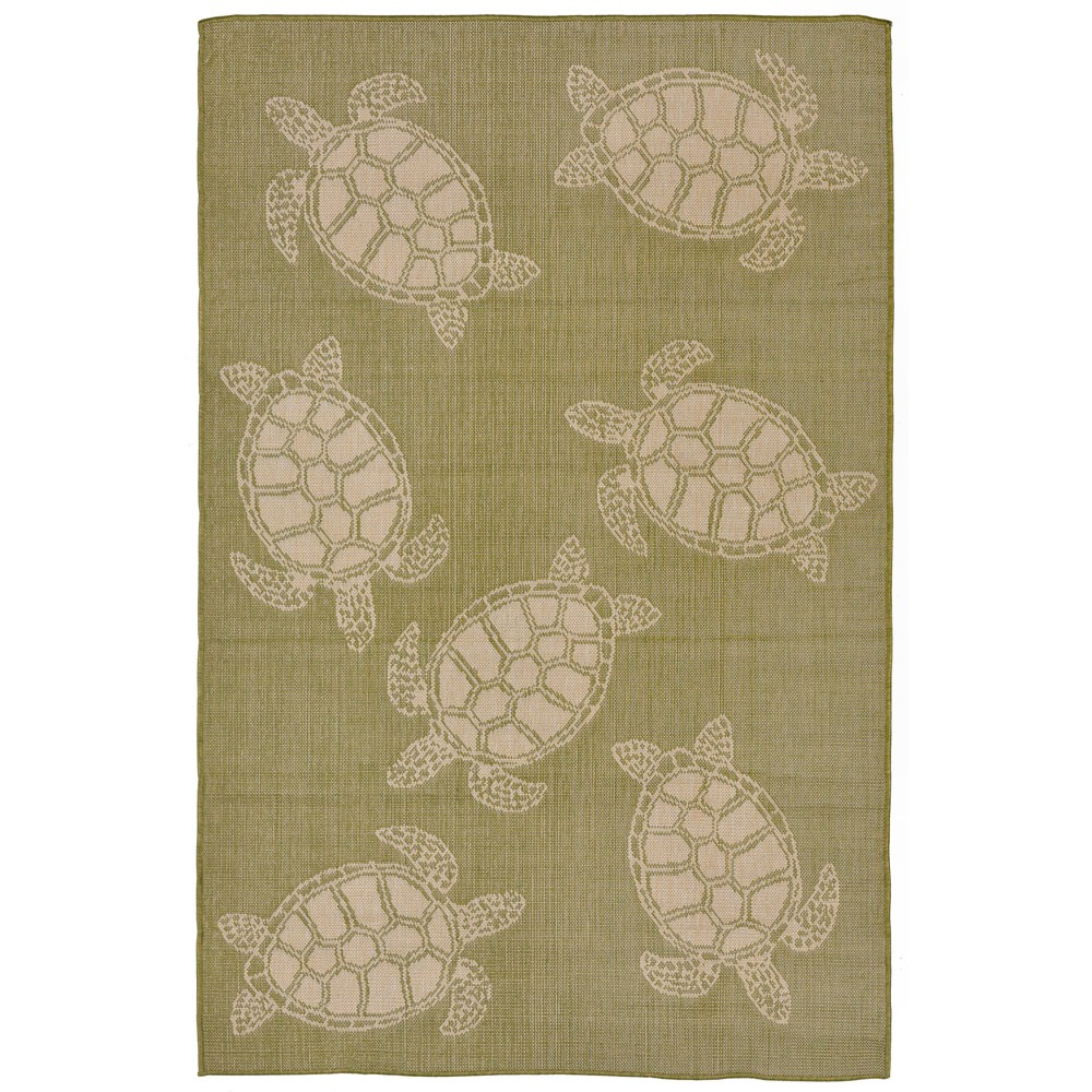 3'4X5' Turtle Accent Rug Green - Liora Manne