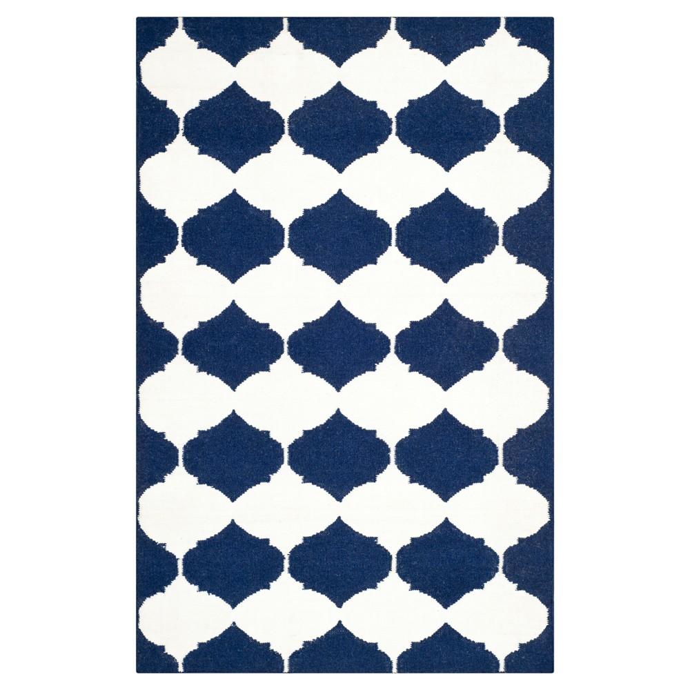 Negah Dhurry Rug - Navy/Ivory (Blue/Ivory) - (3'x5') - Safavieh