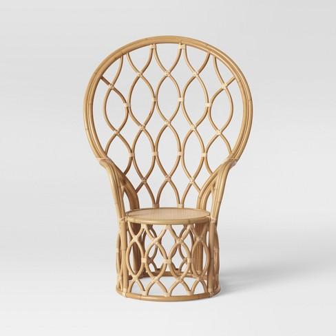 Magnificent Peacock Rattan Chair Natural Opalhouse Lamtechconsult Wood Chair Design Ideas Lamtechconsultcom
