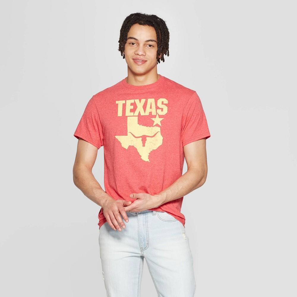 42898911aa47 Mens Short Sleeve Crewneck Texas Long Horn Graphic T Shirt Modern Lux Red S