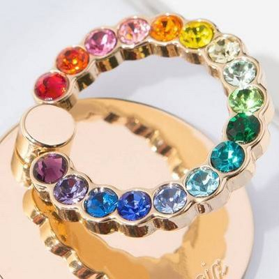 Gold/Rainbow Rhinestones