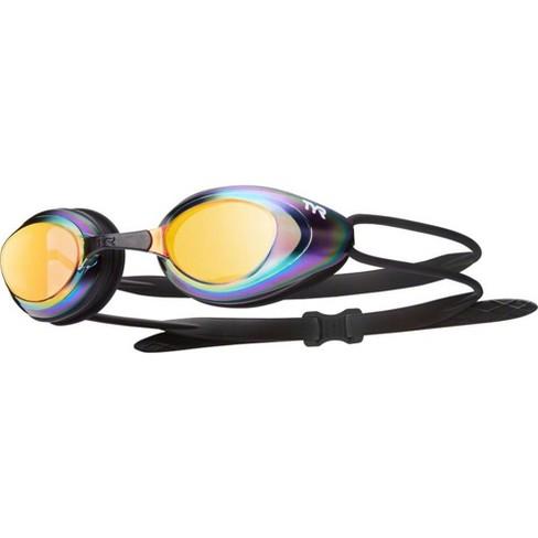 TYR Blackhawk Mirrored Goggle: Black Frame/Metal-Rainbow Lens - image 1 of 1