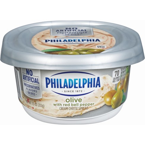 Philadelphia Olive with Red Bell Pepper Cream Cheese Spread - 7.5oz - image 1 of 1