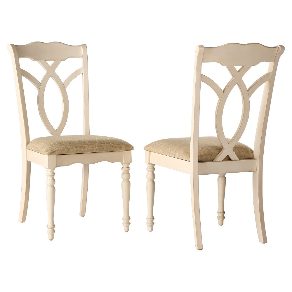 Wakefield Dining Chair Wood/Antique White (Set of 2) - Homelegance